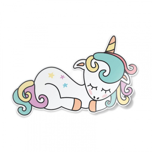 Sticker Dormire unicorno