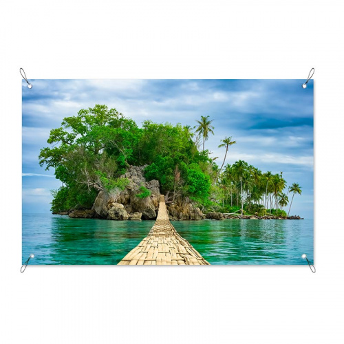 Poster da giardino Isola disabitata