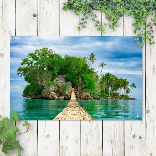 Poster da giardino Isola disabitata 2