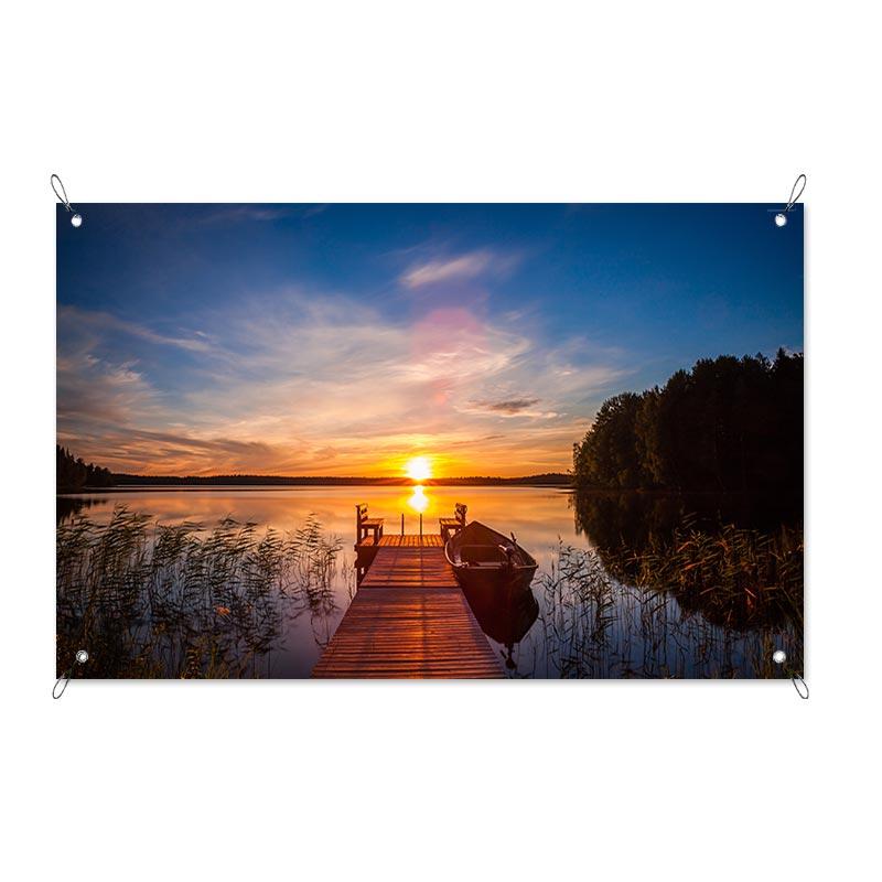 Garden poster Sunset from the pier