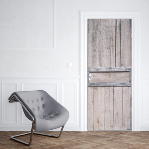Adesivo per porta Modello in legno 5