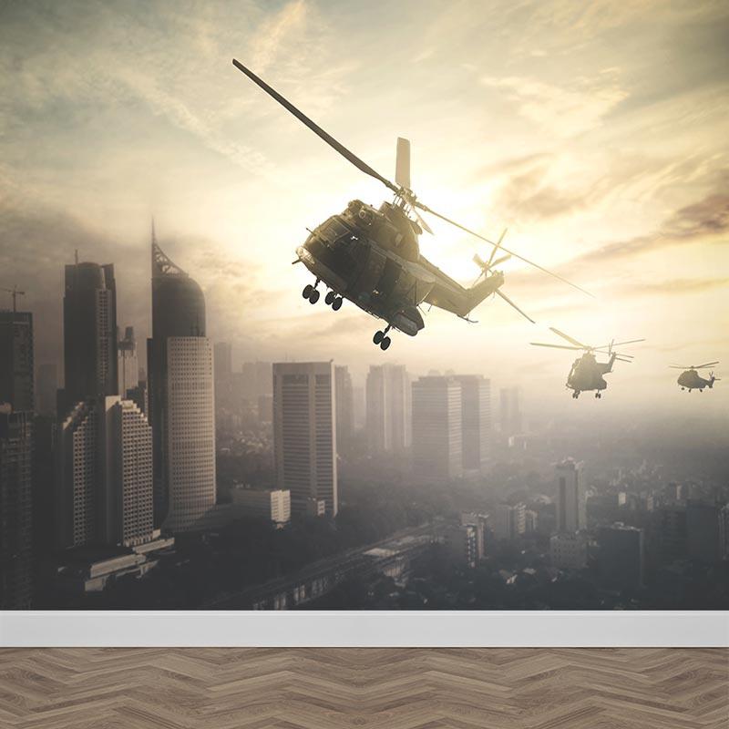 Fotobehang helikopter mysterie