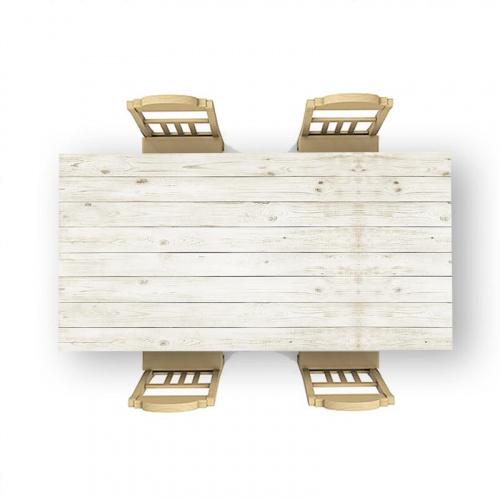 Adesivo da tavolo Modello in legno chiaro 2