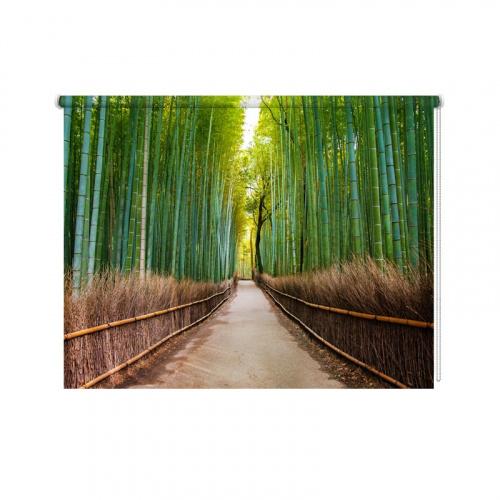Tende A Rullo Fotografiche.Tenda A Rullo Bambu Personalizzato Per Te Fatto A Mano Con