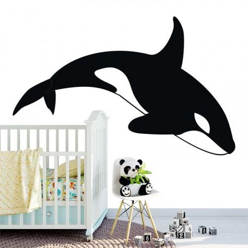 Adesivo Balena assassina disegnata 2