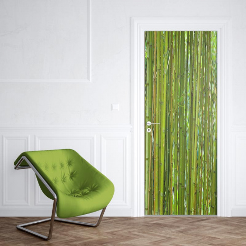 Adesivo per porte Bambù verde