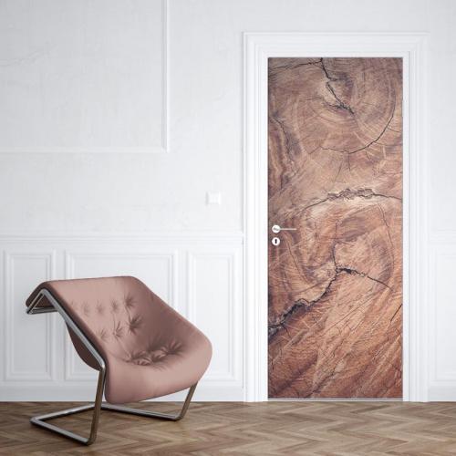 Adesivo per porte Grano di legno