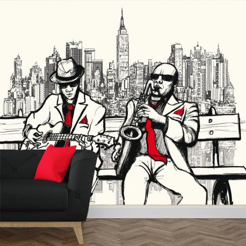Carta da parati New York musicisti