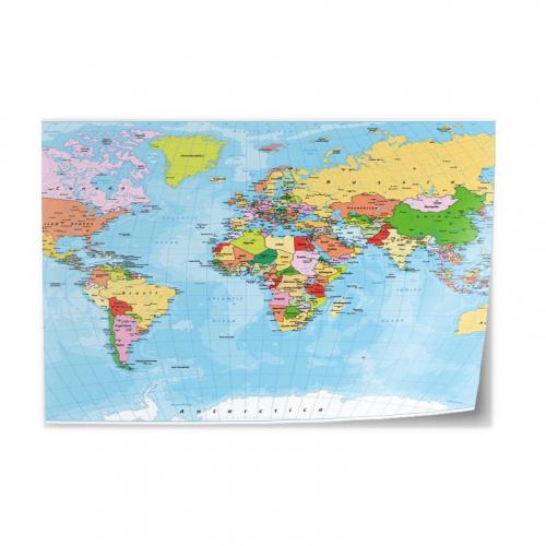 Tafelsticker wereldkaart