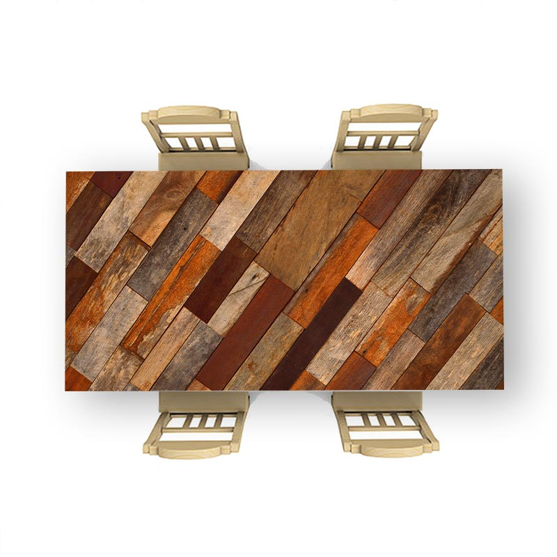Tafelsticker Antiek hout patroon