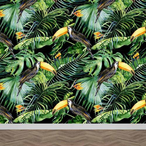 Fotobehang Botanische jungle patroon