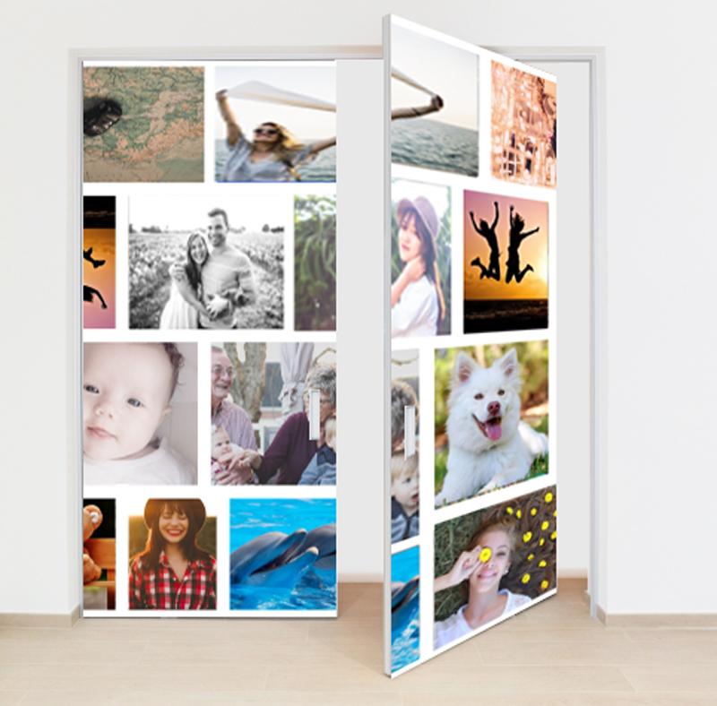 adesivo per porta con immagini