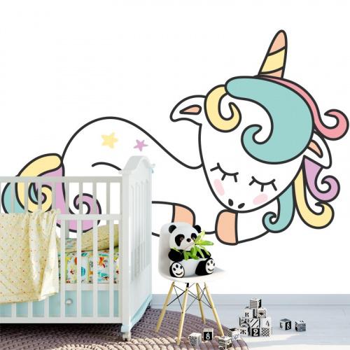 Sticker Dormire unicorno 2