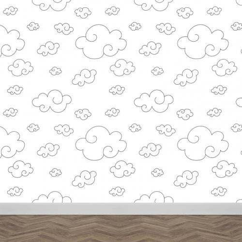 Carta da parati Nuvole disegnate