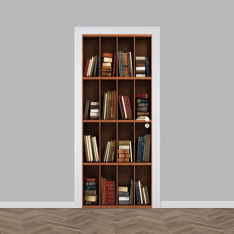 Adesivo per porte Libreria