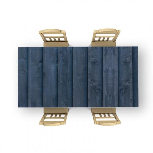 Adesivo da tavolo Ritratto di modello in legno blu scuro