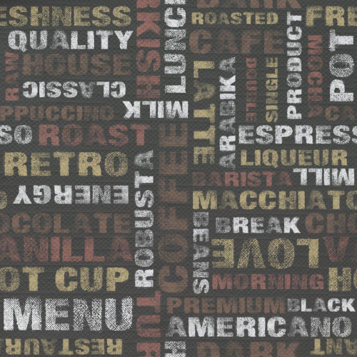 Tovaglia Caffè tipografico motivi 2
