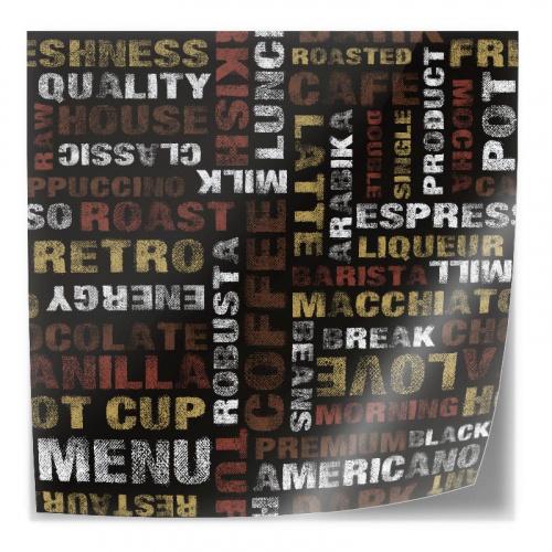 Adesivo da tavolo Modello lettering caffè