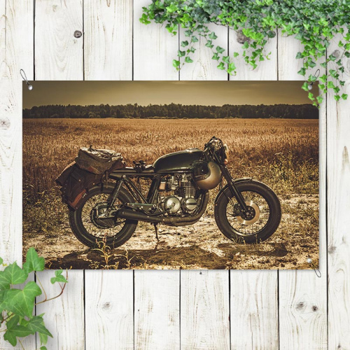 Poster da giardino Vintage motor