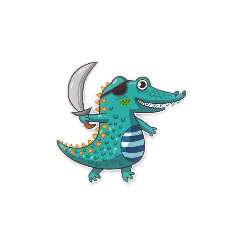 Adesivo Coccodrillo pirata