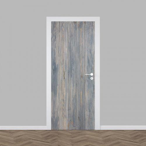 Deursticker hout patroon 12