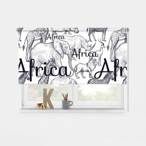 Tenda a rullo Africa selvaggia