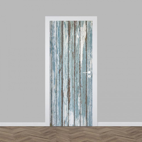 Deursticker steigerhout patroon 3