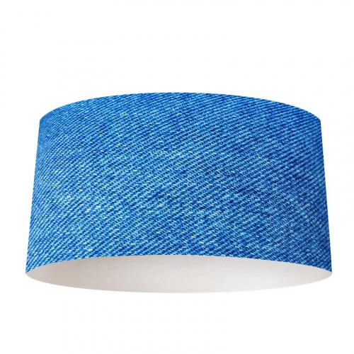 Paralume Tessuto blu