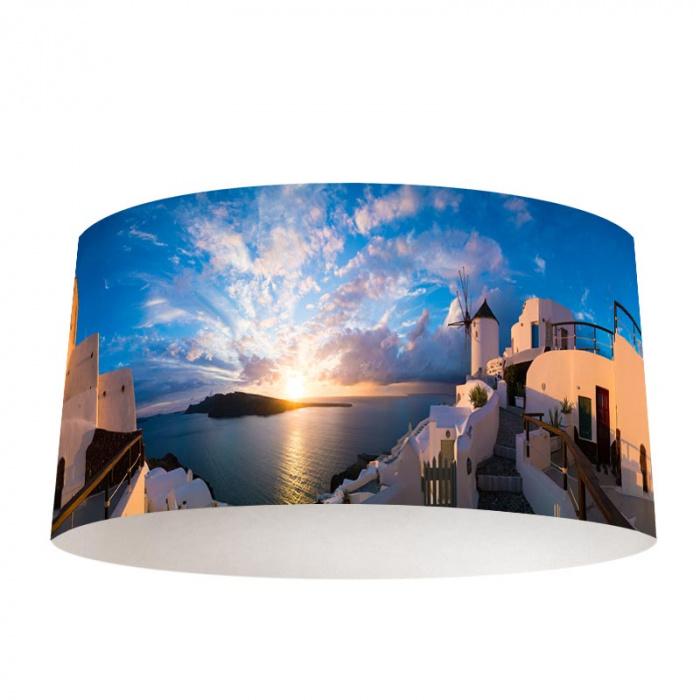 Paralume Santorini all'alba