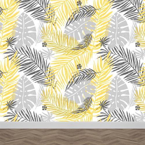 Fotobehang tropische bladeren patroon 4
