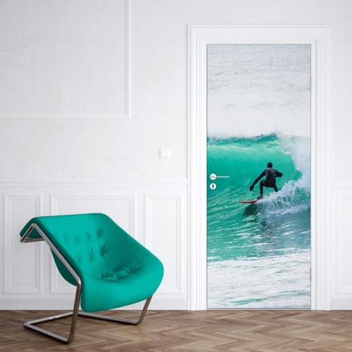 Adesivo per porta Surfista