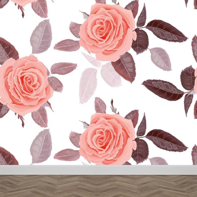 Wallpaper Rose pattern 3