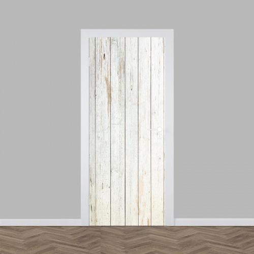 Deursticker hout patroon 13