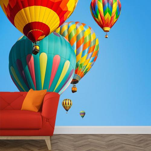 Fotobehang spectaculaire ballonvaart
