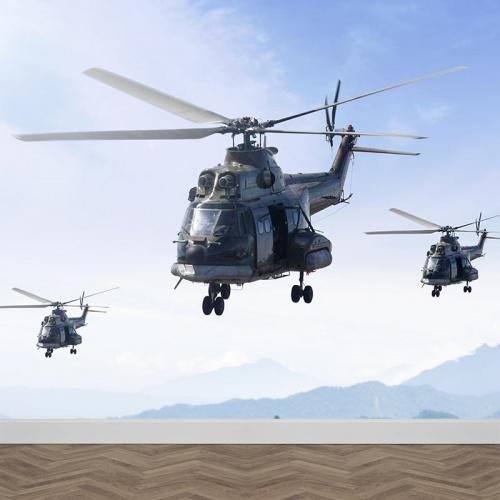 Fotobehang helikopters
