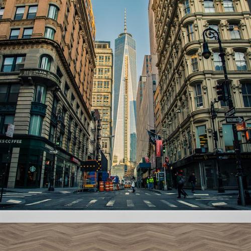 Carta da parati Cantina Strada di Manhattan