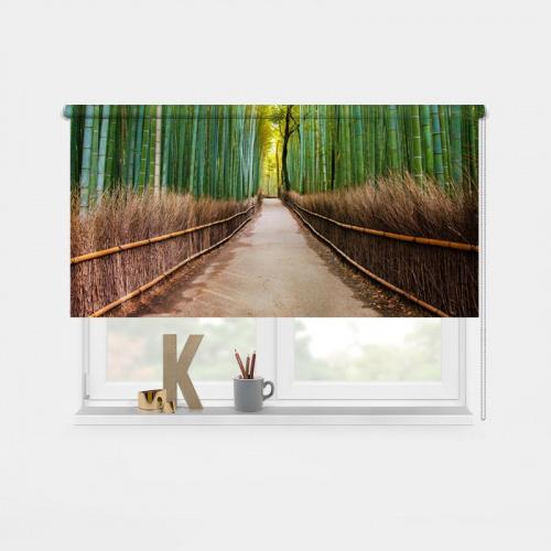 Tenda a rullo Foresta di bambù