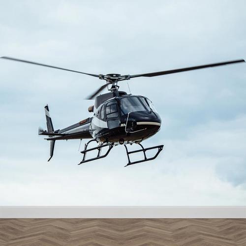 Fotobehang helikopter close up