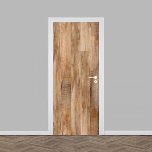 Deursticker hout patroon 14