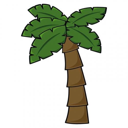 Adesivo Albero di palme