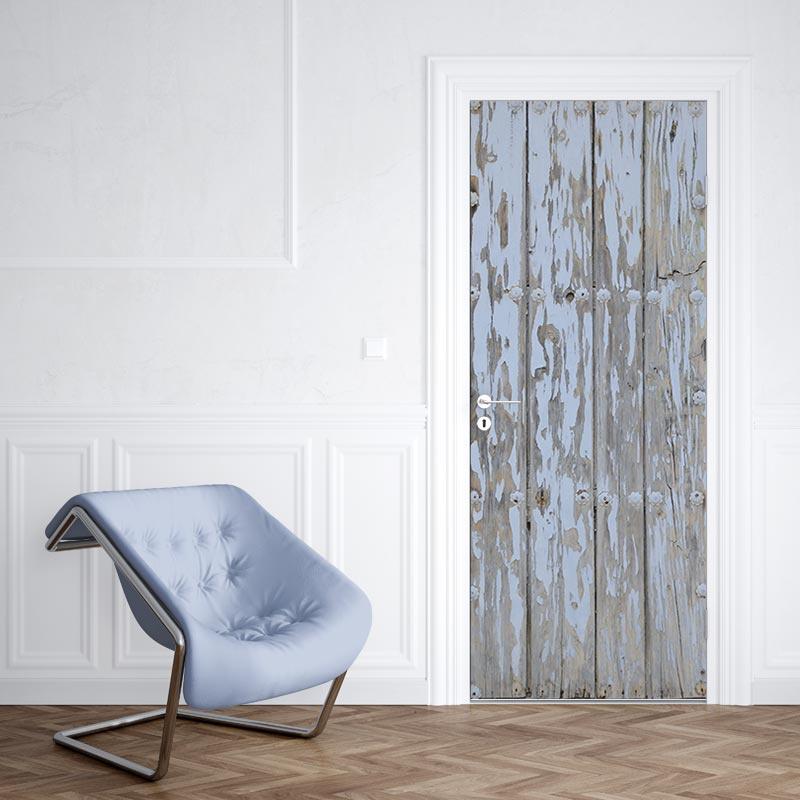 Adesivo per porta Modello in legno 4