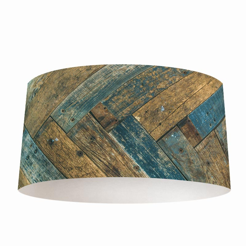 Lampenkap gekleurd hout patroon 2