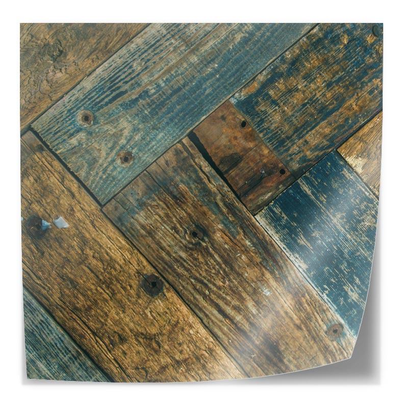 Adesivo da tavolo Modello in legno colorato 2