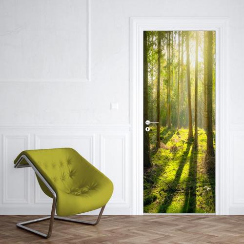 Adesivo per porte Raggi di sole nella foresta