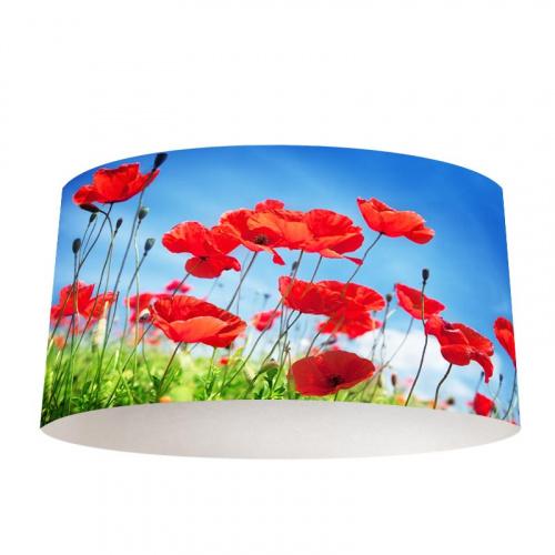 lampshade poppy field