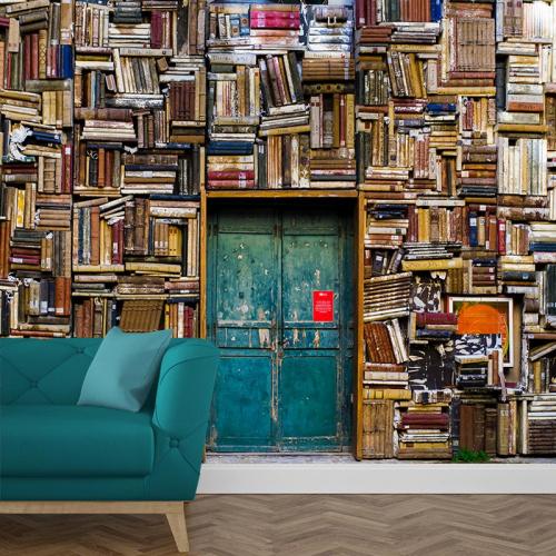 Fotobehang in de bibliotheek