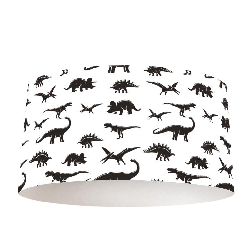 Paralume Dinosauri in bianco e nero