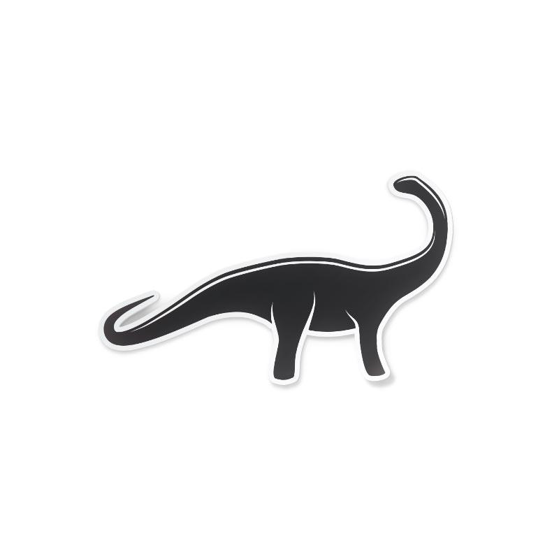 Adesivo Dinosauro bianco e nero