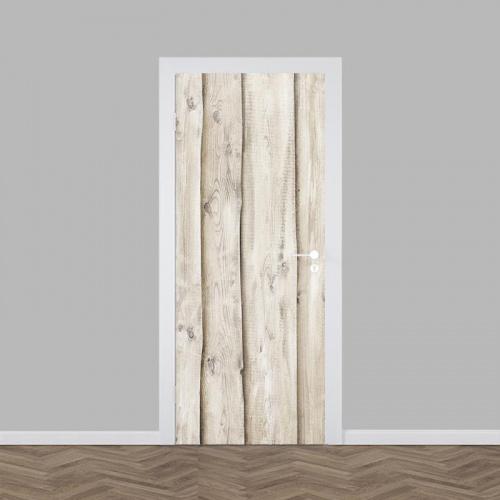 Deursticker hout patroon licht 4