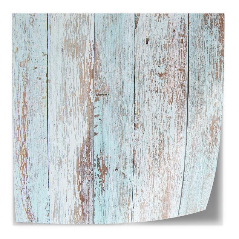 Adesivo da tavolo Legno pastello blu impalcatura